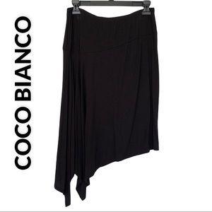 Coco Bianco Black Asymmetrical Skirt